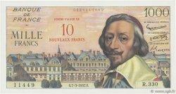 10 NF sur 1000 Francs RICHELIEU FRANCE  1957 F.53.01 SPL+