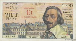 10 NF sur 1000 Francs RICHELIEU FRANCE  1957 F.53.01 TB+