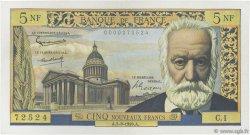 5 Nouveaux Francs VICTOR HUGO FRANCE  1959 F.56.01 SPL