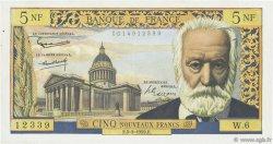 5 Nouveaux Francs VICTOR HUGO FRANCE  1959 F.56.01 TTB+
