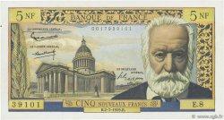 5 Nouveaux Francs VICTOR HUGO FRANCE  1959 F.56.02 TTB à SUP