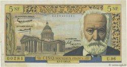 5 Nouveaux Francs VICTOR HUGO FRANCE  1963 F.56.13 TTB