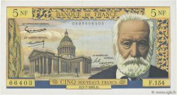 5 Nouveaux Francs VICTOR HUGO FRANCE  1965 F.56.19 TTB+