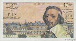10 Nouveaux Francs RICHELIEU FRANCE  1960 F.57.07 TTB+