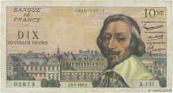 10 Nouveaux Francs RICHELIEU FRANCE  1961 F.57.13 TTB
