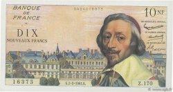 10 Nouveaux Francs RICHELIEU FRANCE  1961 F.57.14 TTB+