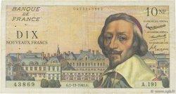 10 Nouveaux Francs RICHELIEU FRANCE  1961 F.57.16 TB