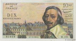 10 Nouveaux Francs RICHELIEU FRANCE  1961 F.57.16 pr.SUP