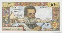 50 Nouveaux Francs HENRI IV FRANCE  1959 F.58.03 SUP+