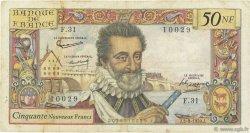 50 Nouveaux Francs HENRI IV FRANCE  1959 F.58.03 pr.TB
