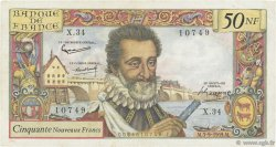 50 Nouveaux Francs HENRI IV FRANCE  1959 F.58.03 TB+