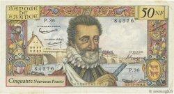50 Nouveaux Francs HENRI IV FRANCE  1959 F.58.04 TB