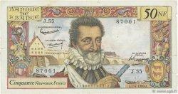 50 Nouveaux Francs HENRI IV FRANCE  1960 F.58.05 pr.TB