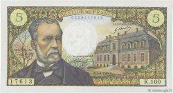 5 Francs PASTEUR FRANCE  1969 F.61.10 SUP