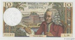 10 Francs VOLTAIRE FRANCE  1963 F.62.04 SUP