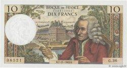 10 Francs VOLTAIRE FRANCE  1963 F.62.05 SUP