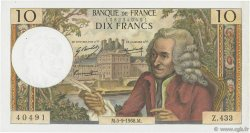 10 Francs VOLTAIRE FRANCE  1968 F.62.34 SUP