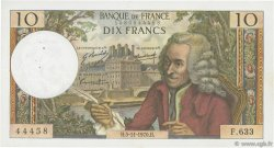 10 Francs VOLTAIRE FRANCE  1970 F.62.47 TTB+