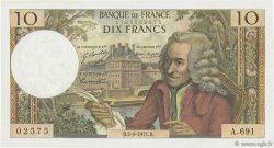 10 Francs VOLTAIRE FRANCE  1971 F.62.51 SUP