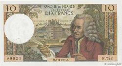 10 Francs VOLTAIRE FRANCE  1971 F.62.53 SUP