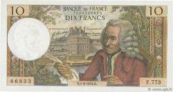 10 Francs VOLTAIRE FRANCE  1972 F.62.56 TTB+