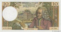 10 Francs VOLTAIRE FRANCE  1972 F.62.57 TTB