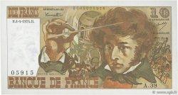 10 Francs BERLIOZ FRANCE  1974 F.63.04 pr.SPL