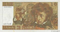 10 Francs BERLIOZ FRANCE  1974 F.63.07b pr.TTB