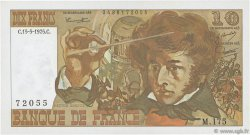 10 Francs BERLIOZ FRANCE  1975 F.63.10 SUP