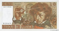 10 Francs BERLIOZ FRANCE  1975 F.63.11 SPL