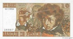 10 Francs BERLIOZ FRANCE  1976 F.63.16 SUP