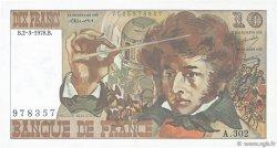 10 Francs BERLIOZ FRANCE  1978 F.63.23 TTB+