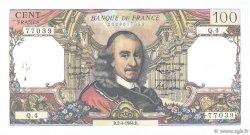 100 Francs CORNEILLE FRANCE  1964 F.65.01 pr.SUP