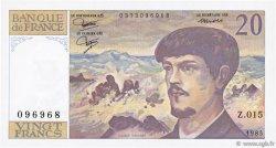 20 Francs DEBUSSY FRANCE  1985 F.66.06 NEUF