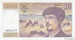 20 Francs DEBUSSY FRANCE  1986 F.66.07 TTB