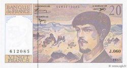 20 Francs DEBUSSY Modifié FRANCE  1997 F.66ter.02 SPL