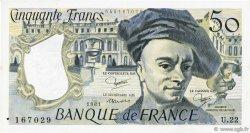 50 Francs QUENTIN DE LA TOUR FRANCE  1981 F.67.07 TTB+