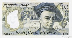 50 Francs QUENTIN DE LA TOUR FRANCE  1982 F.67.08 SUP