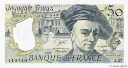 50 Francs QUENTIN DE LA TOUR FRANCE  1982 F.67.08 SUP+