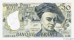 50 Francs QUENTIN DE LA TOUR FRANCE  1982 F.67.08 SUP