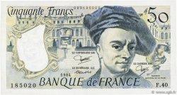50 Francs QUENTIN DE LA TOUR FRANCE  1984 F.67.10 TTB+