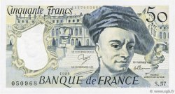 50 Francs QUENTIN DE LA TOUR FRANCE  1989 F.67.15 TTB