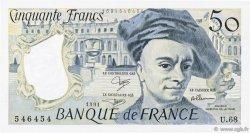 50 Francs QUENTIN DE LA TOUR FRANCE  1991 F.67.17 SPL+