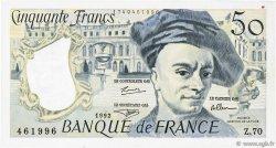 50 Francs QUENTIN DE LA TOUR FRANCE  1992 F.67.18 SUP+