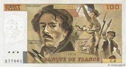 100 Francs DELACROIX modifié FRANCE  1978 F.69.01b pr.TTB