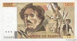 100 Francs DELACROIX modifié FRANCE  1978 F.69.01c TB à TTB