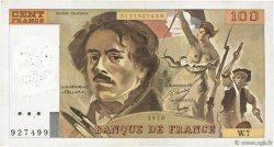 100 Francs DELACROIX modifié FRANCE  1978 F.69.01d TB à TTB