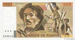 100 Francs DELACROIX modifié FRANCE  1979 F.69.02c pr.SUP