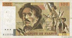 100 Francs DELACROIX modifié FRANCE  1979 F.69.03 pr.TB