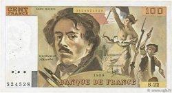 100 Francs DELACROIX modifié FRANCE  1980 F.69.04 TTB